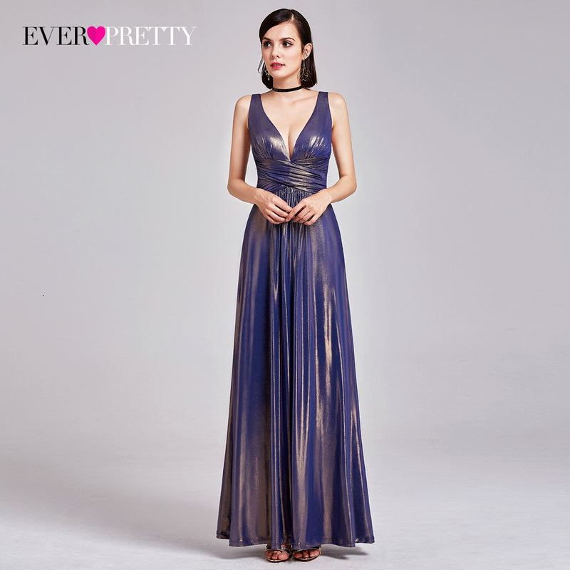 Sexy Christmas Evening Dresses Ever Pretty A-Line V-Neck Ruched Sparkle Special Occasion Dresses For Holiday Party Abendkleider