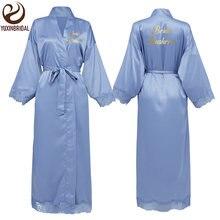 Индивидуальный заказ Женские Длинные атласные кружевные халаты