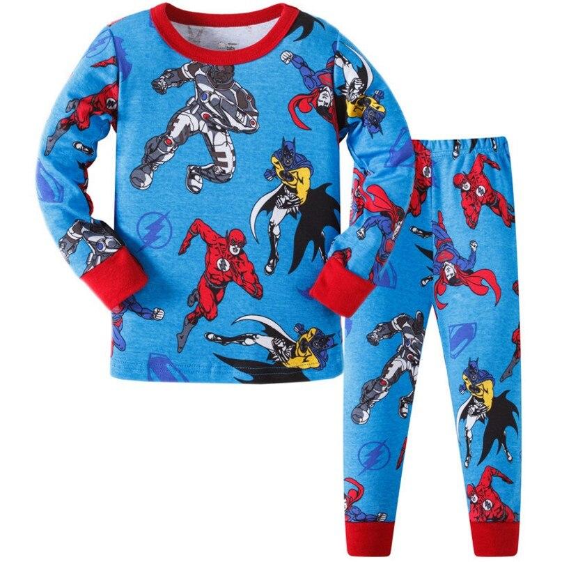Little Bitty Baby Cartoon Pyjamas Super Man Print Fashion Long Sleeve Children Clothing Sets Sleepwear Boys Girls Night Clothes