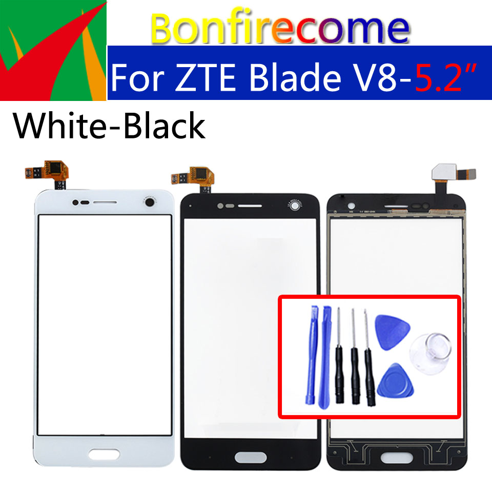 For ZTE Blade V8 Touch Screen Panel Digitizer Sensor Front Glass Outer Touchscreen Display Replacement 5.2 Inch