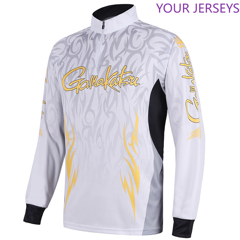GAMAKATSU Breathable Fishing Shirts Sport Outdoor Long Sleeve Fishing Clothing Profesional Quick Dry Sun Anti-UV Hiking Clothes