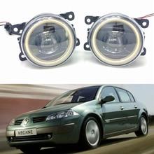 цена на For Renault MEGANE 2 Saloon LM0 LM1 2003-2015 Car styling New Led Fog Lights 30W DRL Angel Eyes Fog Lamp 2pcs