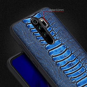 Image 5 - 高級天然本革スキン電話ケースカバー Xiaomi Redmi 注 8 プロ Note8 8Pro グローバル 6/8 64/128 ギガバイト Xiomi バンパー