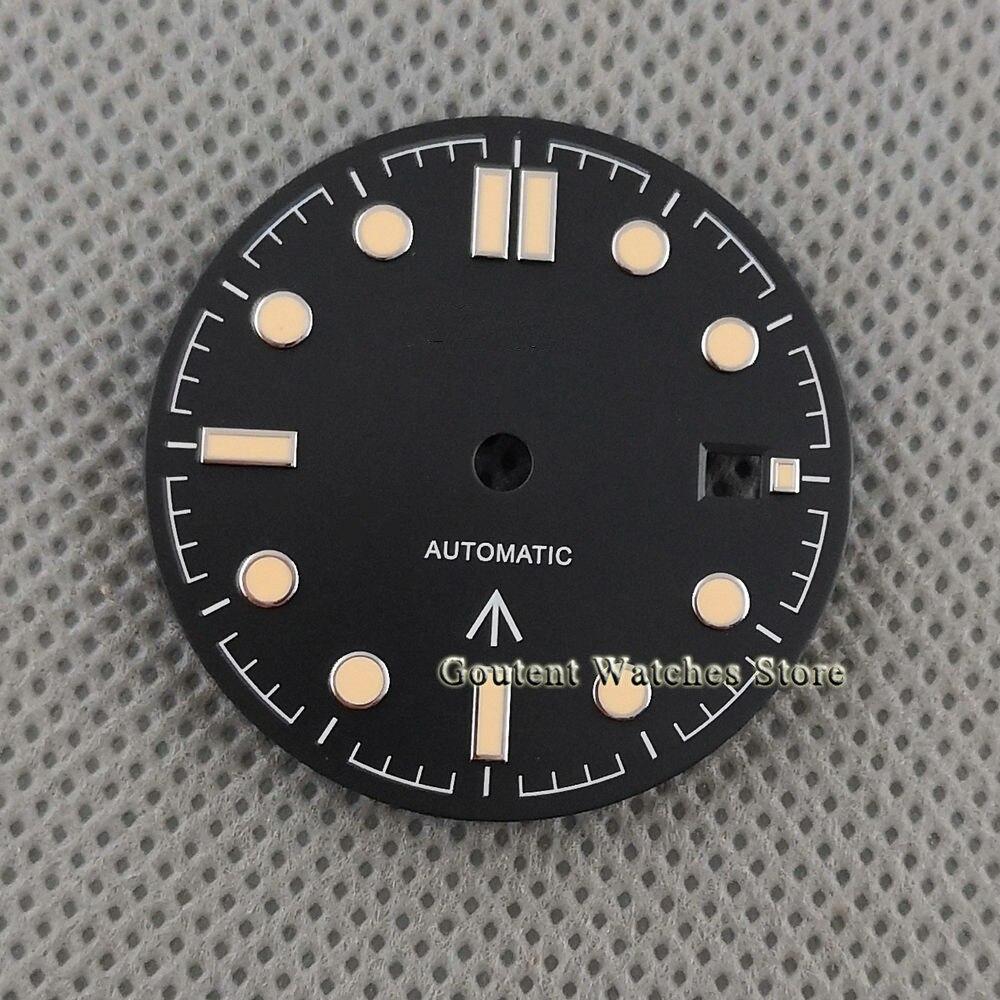 31mm Sterile watch dial black dial for eta 2836 2824,Miyota 8205 8215 821A,Mingzhu DG2813 3804 Seagull ST1612 movement