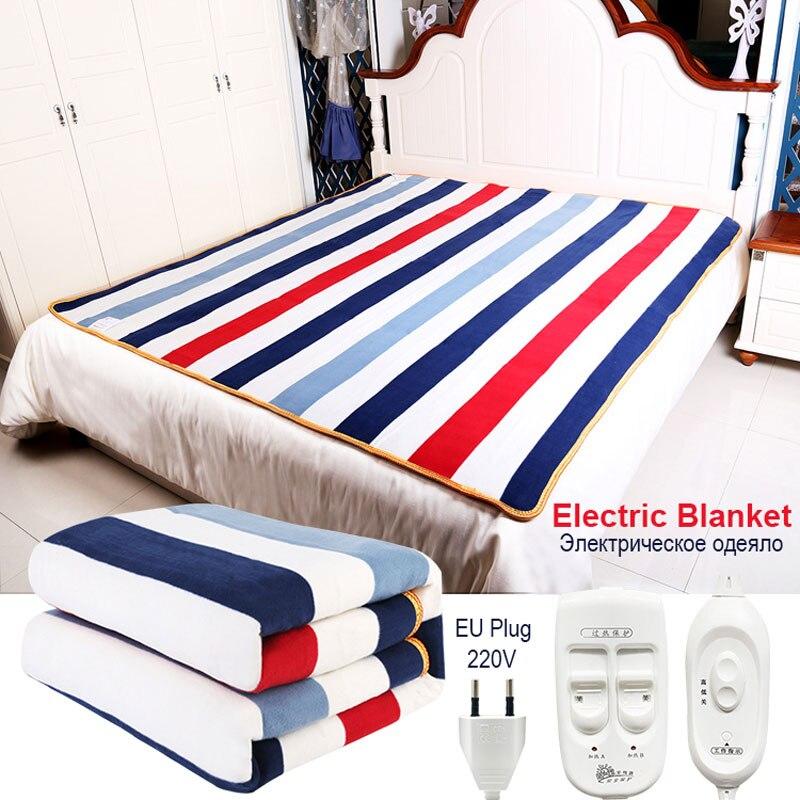 Автоматическое электрическое одеяло 220 В, термостат с подогревом, двухслойный теплый матрас с подогревом, ковер с электрическим подогревом Электроодеяла      АлиЭкспресс