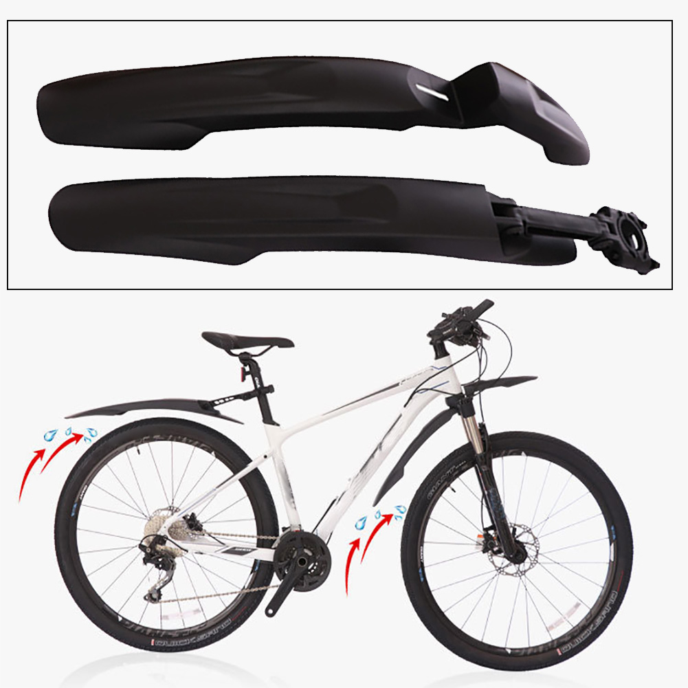 24 To 29 Inch Folding Full Length Cycling Bicycle Fenders Repair Mountain Bike Easy Install Home Parts Wheels Mudguards Portable