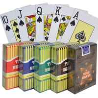 Texas Hold'em 100% PVC Plastic playing card Family game poker cards Waterproof and dull polish poker Board games