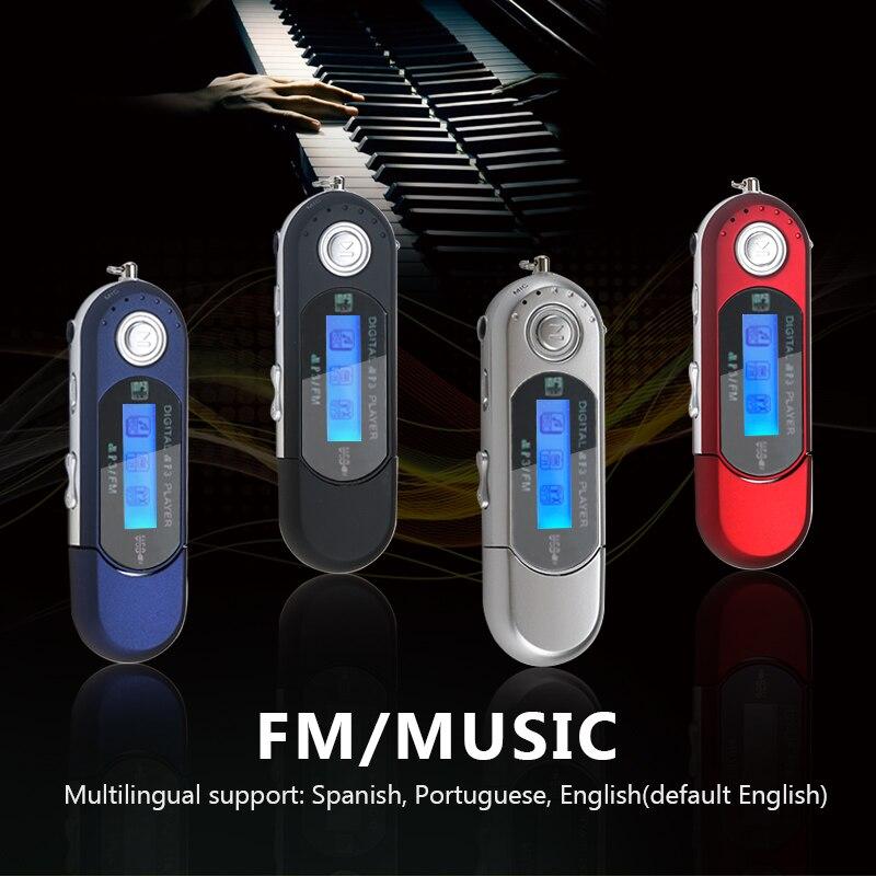 Portátil mini flash usb lcd digital mp3 player suporte flash 32gb tf slot para cartão leitor de música rádio fm 2020 novo