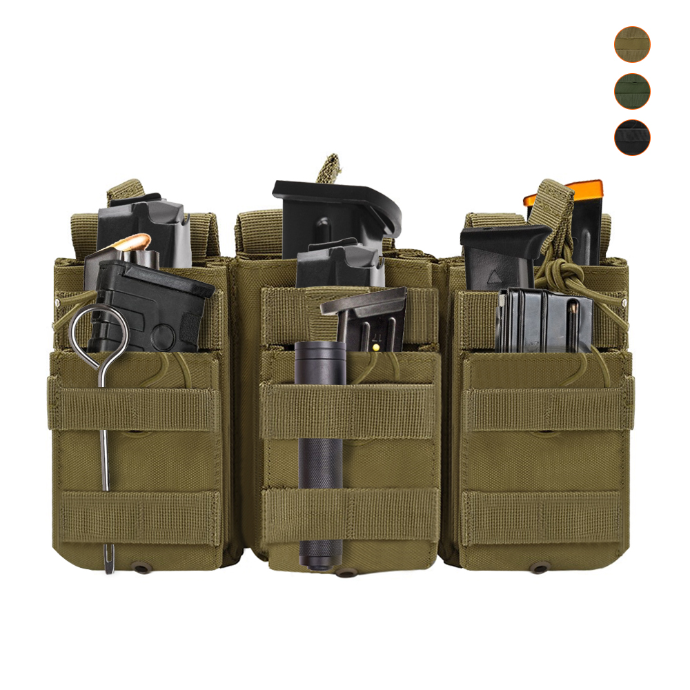 Tactical Molle Magazine Pouch Double-Layer Triple Paintball Equipment Hunting Accessories Universal Mag Bag Cartridge Pouch New