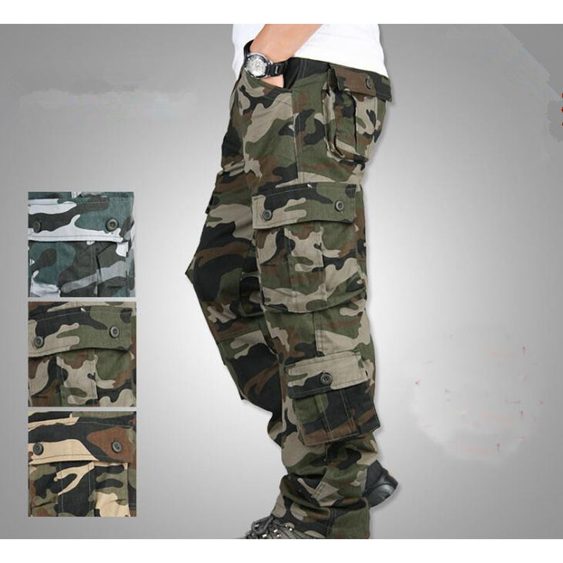Camouflage Pants Men Casual Camo Cargo Trousers Hip Hop Joggers Streetwear Military Tactical Pants