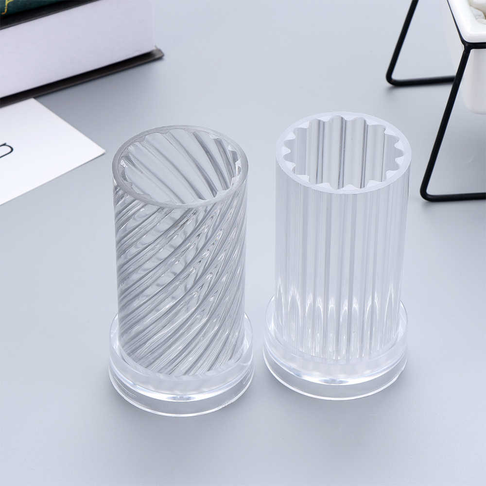 1 Pc Clear Plastic Candle Making Mold DIY Soap Moulds Clay Craft Handmade Tool