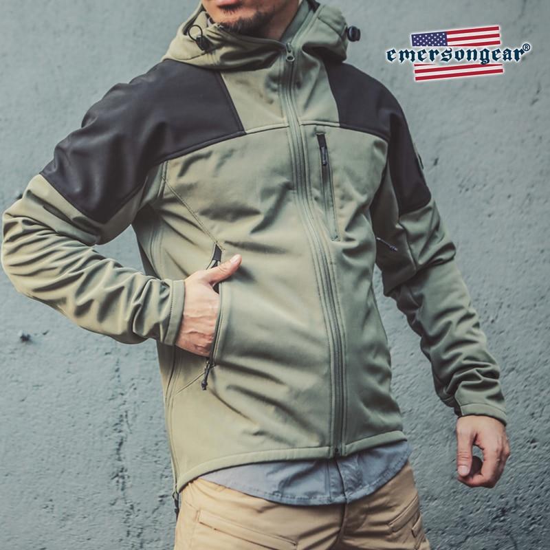 Emersongear Blue Label Fleece Thermal Jacket Triple Tech Warm Tactical Jacket Winter Coat WaterProof WindProof Stretched Jacket