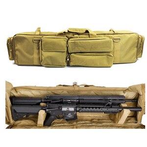 Image 4 - 100 cmarmy بندقية حقيبة الظهر مزدوجة بندقية حقيبة الحال بالنسبة منشار M249 M4A1 M16 AR15 Airsoft كاربين حقيبة حمل حقيبة الكتف حزام