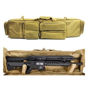 Image 4 - 100cm 군사 총 가방 배낭 더블 소총 가방 케이스 톱 M249 M4A1 M16 AR15 Airsoft 카빈 운반 가방 케이스 어깨 끈