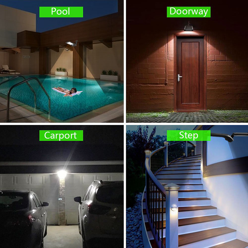 Outdoor Solar Wall Light with 180 Degree Rotating Struts in 3 Sensor modes for Stair and Garden Pathway 8