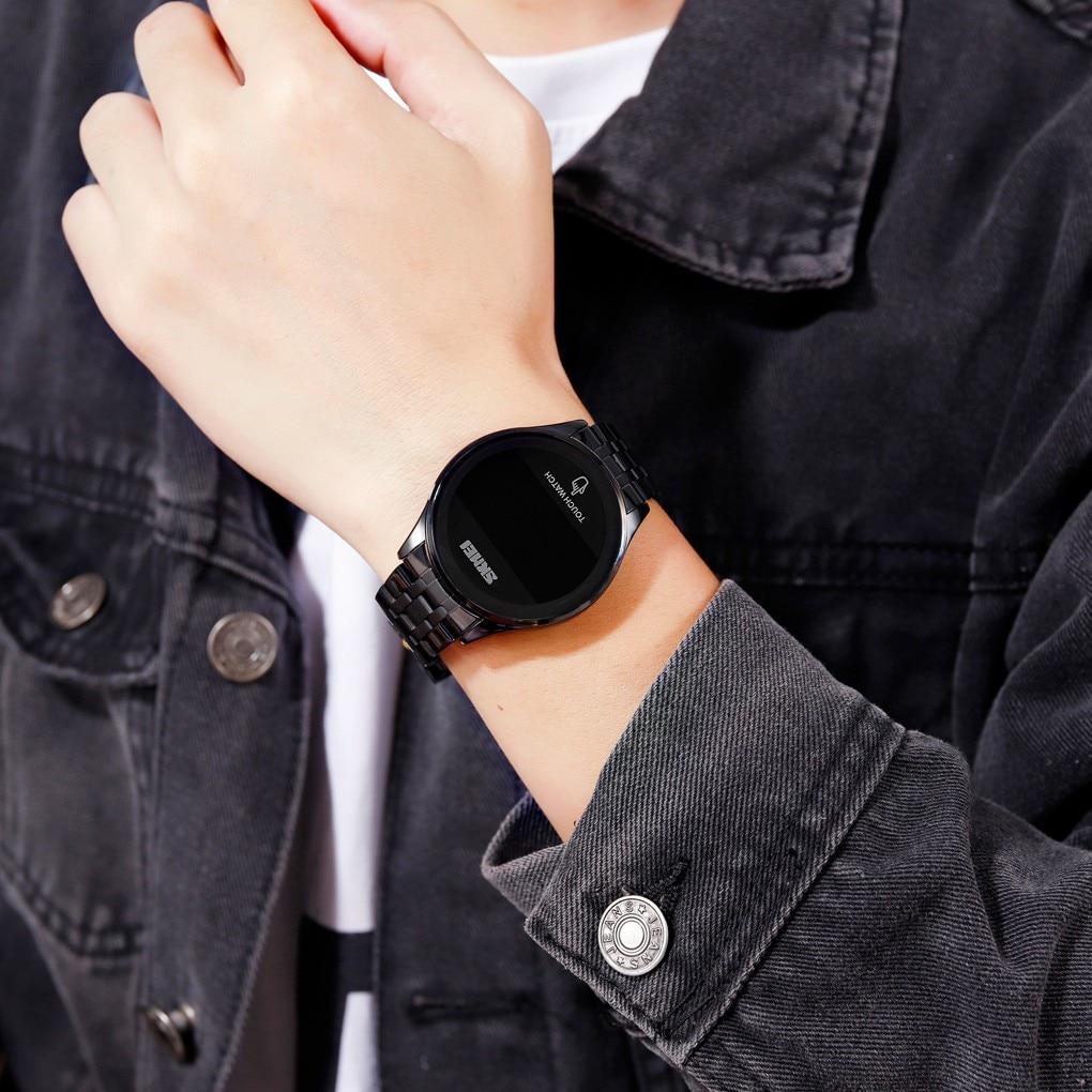 2020 Fashion Creative Geometric Round Stainless Steel Men's Business Quartz Watch Gift Sport Quartz Clock Relogio Masculino