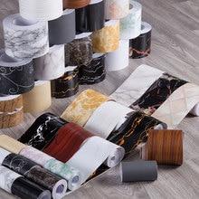 Skirting-Line Wall-Stickers Self-Adhesive Marble Border Waterproof Living-Room-Decor