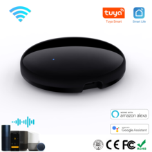 Умный Универсальный ИК-пульт дистанционного управления Wi-Fi Tuya для умного дома управление для телевизора DVD Audi AC кондиционер работает с Alexa ...