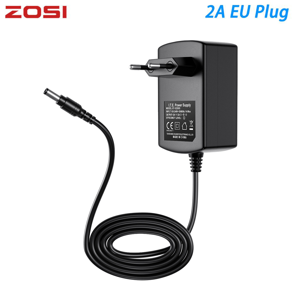 ZOSI DC 12V 2A EU US UK AU CCTV Video Power Supply Adapter Charger For BNC Outdoor Security Camera Video Surveillance System