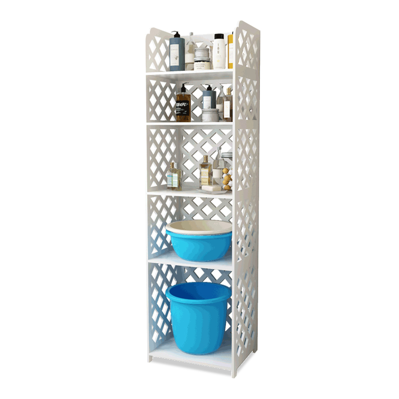 Salle de bain toilette au sol support de salle de bain lavabo étagère salle de bain fournitures Machine à laver étagère de rangement palier
