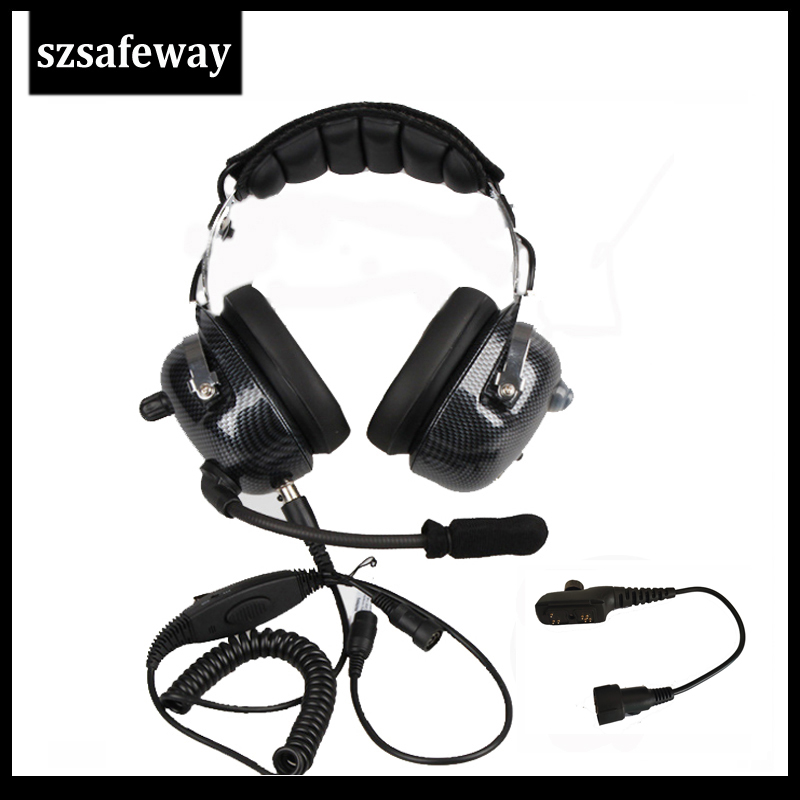 Szsafeway New Two Way Radio Noise Cancelling Headset For Hytera PD780 PD785