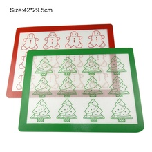 1PCS Cookie Baking Mat For Christmas Silicone High Temperature Resistance