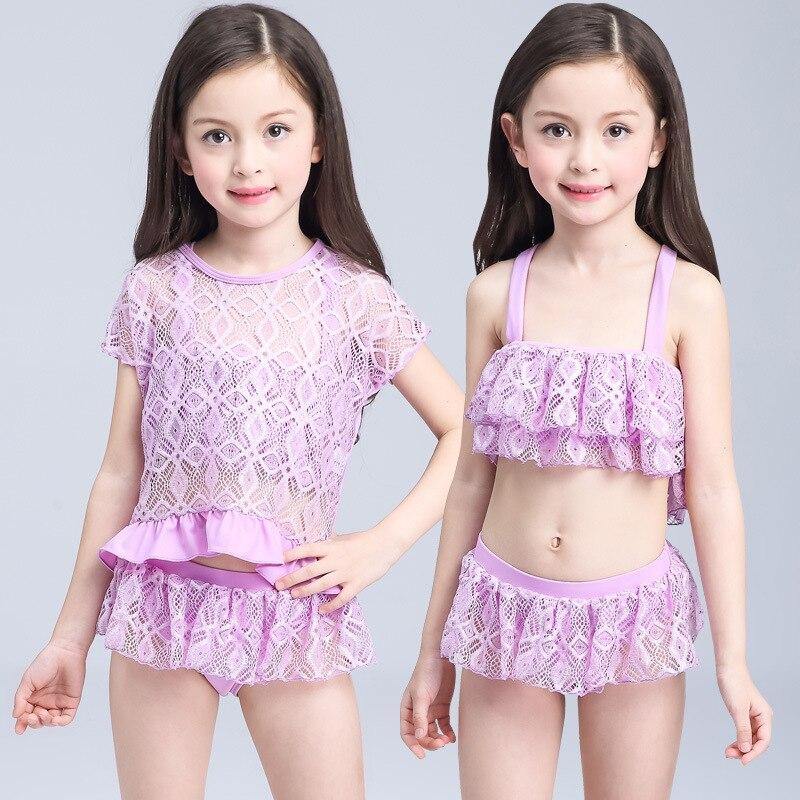 2017 South Korea Children Wen Quan Bao Infants Small Size Skirt Bikini GIRL'S Skirt Split Type Swimsuit