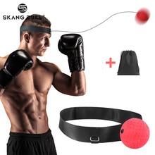 Боксерский рефлекторный мяч бои мяч пробивая скорость мяч для тренировки бокса тренажерный зал тренировка координация с повязкой улучшить реакцию