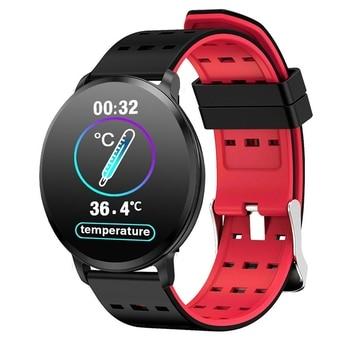 цена T8 Wristband Blood Pressure HD Sn Fitness Tracker Heart Rate Monitor Rechargeable Peeter Smart Watch red онлайн в 2017 году