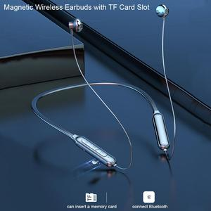 Спортивные наушники Neckband, Bluetooth наушники, беспроводные наушники, Hi-Fi, стерео наушники для бега с микрофоном, поддержка TF карты