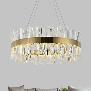Image 3 - Modern Chandelier for Bedroom Round Gold/Chrome Crystal led Chandeliers for Living Room Dining Room Hall Hallway Home Decor Lamp
