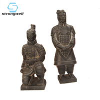 Strongwell Chinese Terracotta Warriors Sculpture Knight Statue Ancient Soldiers Armor Hero Home Decoration Accessories Gift