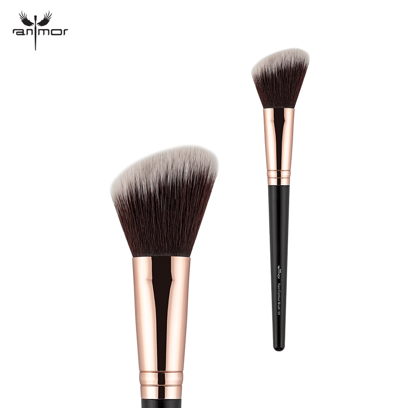Anmor Makeup Brush Professional Make Up Brushes Foundation Set Concealer Contour Blush Blending Soft Synthetic Hair Cosmetic Kit