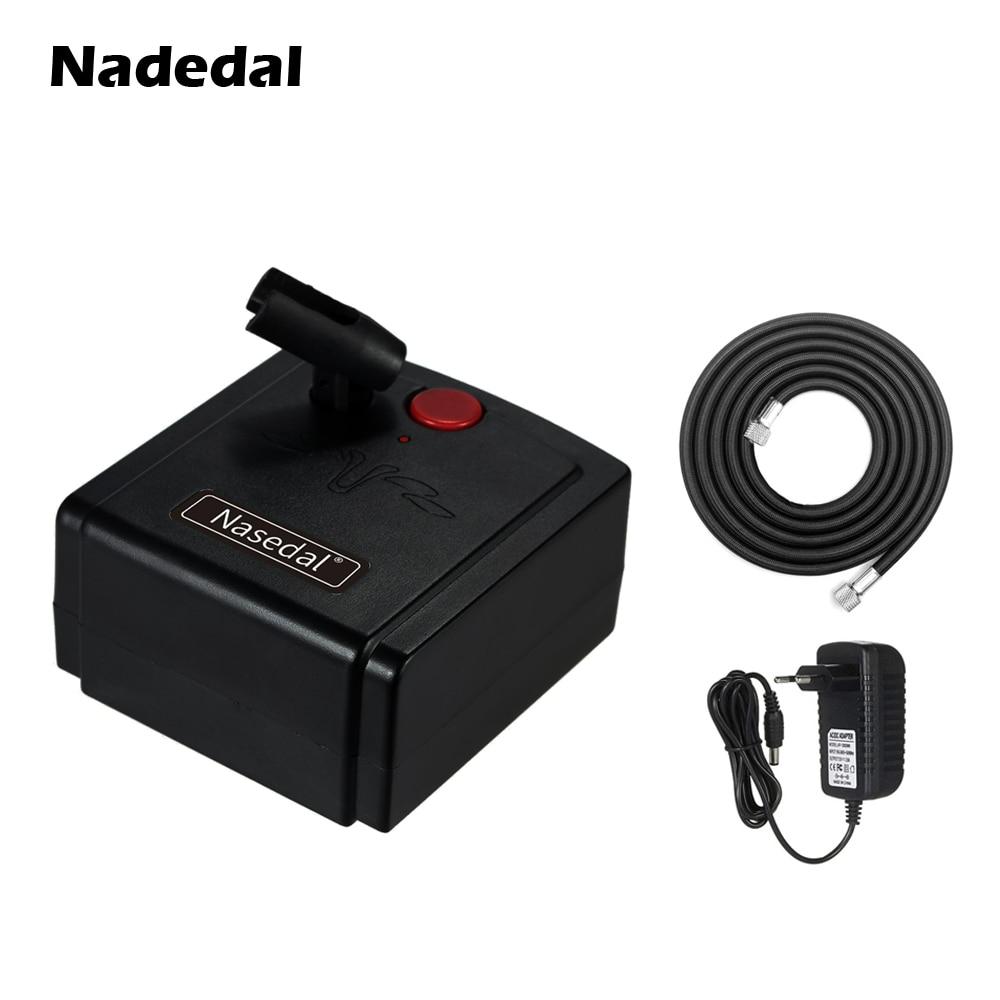 Nasedal Airbrush Compressor Airbrush Holder For Nail Art Makeup Tattoo Model Cake Car Painting (No Airbrush Spray Gun)