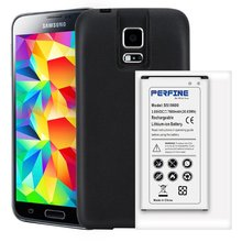Bateria para telefones samsung galaxy s5, i9600, 7800mah, telefone móvel, nfc, bateria estendida + capa de proteção