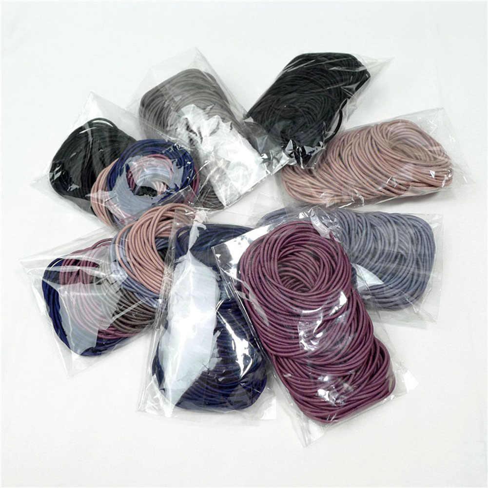 1PC femmes enfants élastique tissu épais bouclés cheveux bandes chouchous cheveux cravate anneau corde filles élastique pour queue de cheval chapeaux accessoires