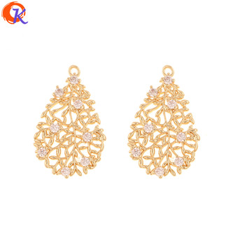 Cordial Design 10Pcs 16*25MM Jewelry Accessories/Hand Made/DIY Making/Genuine Gold Plating/CZ Charms/Earring Findings/Pendant фото