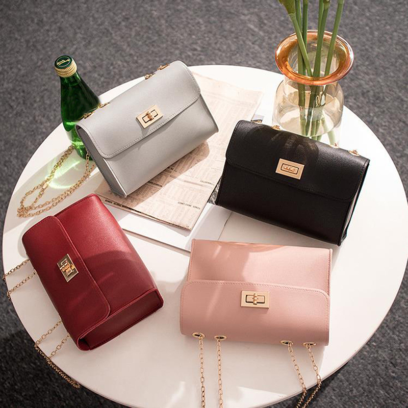 2019 Fashion Chain Leather Luxury Handbags Women Shoulder Bags Designer Messenger Crossbody Bag For Small Flap