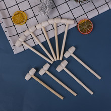 Novo 10 pçs mini martelo de madeira bolas brinquedo pounder substituição madeira maletes bebê 140x43x19mm