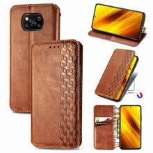 Leather Texture Flip Case for Xiaomi Poco X3 Pro Luxury Cover Magnetic Book Case Poco X3 NFC X 3 PocoPhone 3X Wallet Skin Funda