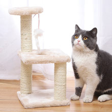 Pet Supplies Pet Cat Tree House Cat Climbing Frame Climbing Frame With Hammock Cat Table Pet Cat Toy Kitty Play House For Kitten