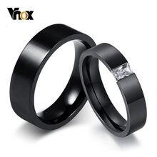 Vnox stylowe obrączki dla par czarne stalowe pierścienie ze stali nierdzewnej dla kobiet mężczyzn Boy Girl akcesoria imprezowe