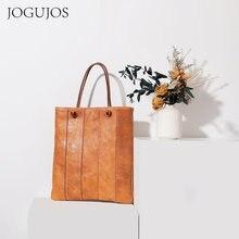 Jogujos ретро сумки из воловьей кожи для женщин 2020 новая вместительная