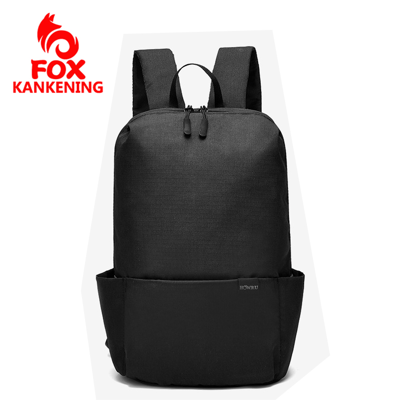 FOX KANKENING Waterproof Nylon Backpack for Women Multi Pocket Unisex Travel Backpacks Female School Bag for Teenage Backpack image