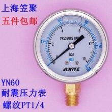 Seismic Pressure Gauge Hydraulic Pressure Hydraulic Seismic Shock-resistant Pressure Gage YN60 10bar PT1/4 seismic reflection exploration