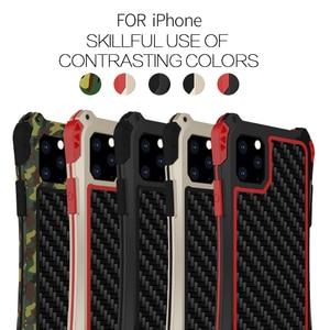 Image 5 - עמירה עמיד למים עמיד הלם טלפון מקרה עבור Iphone 11 11 פרו Iphone 11 פרו מקס סיבי פחמן כיסוי היברידי עומס כבד מוקשח שריון