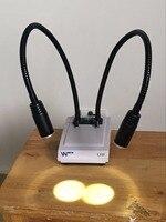 Dual-fiber cold light source for microscope