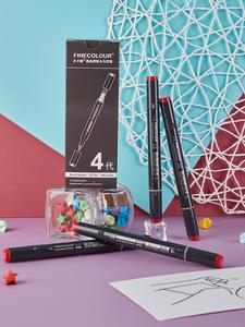 FINECOLOUR Pen Alcoholic-Marker Soft-Head Professional EF103 Round-Rod Oily 12/24/36-/..