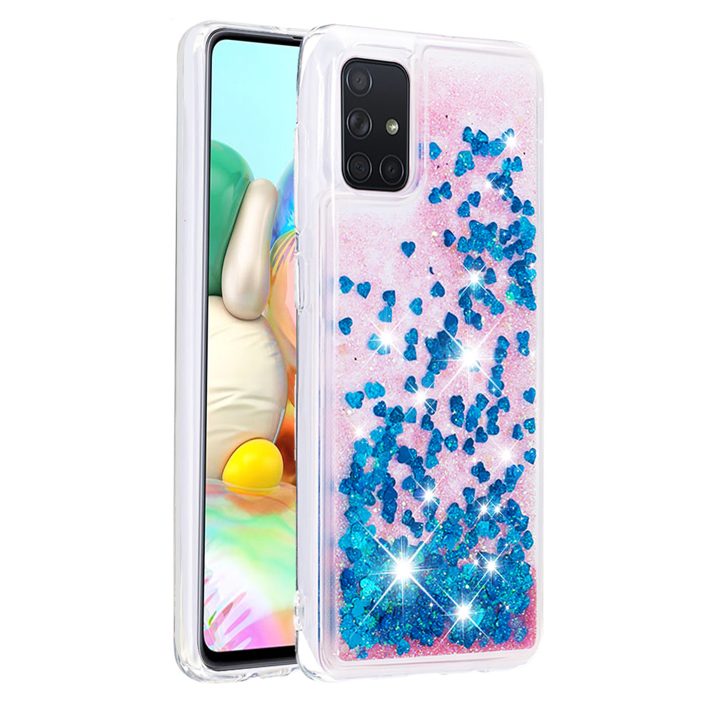 A51 A71 Case For Samsung Galaxy S20 Plus Case S20 Ultra Glitter Dynamic Liquid Quicksand Cover For Etui Samsung A51 A71 Carcasa