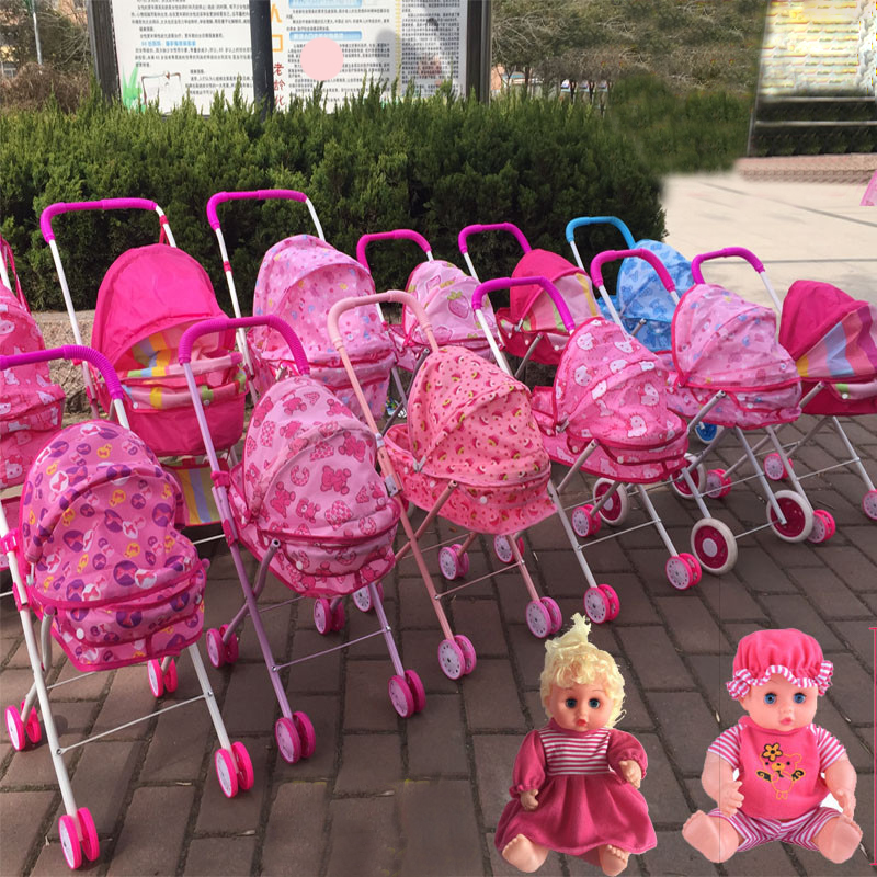 New Baby Carriage Stroller Trolley Nursery Furniture Toys For Doll Pretend Play Educational Toys For Children Girls Gift